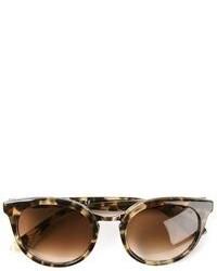 braune Sonnenbrille mit Leopardenmuster
