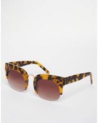 braune Sonnenbrille mit Leopardenmuster von Asos