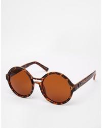braune Sonnenbrille mit Leopardenmuster von Kensie
