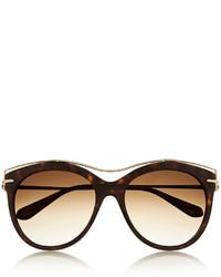 braune Sonnenbrille von Alexander McQueen
