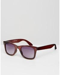 Braune Sonnenbrille von Asos