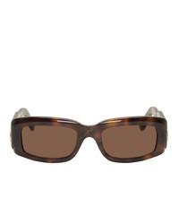 braune Sonnenbrille von Balenciaga