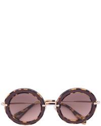 braune Sonnenbrille von Miu Miu