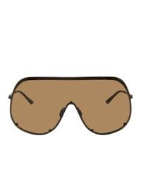 braune Sonnenbrille von Rick Owens