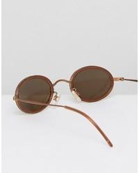 braune Sonnenbrille von Reclaimed Vintage