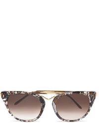 braune Sonnenbrille von Thierry Lasry