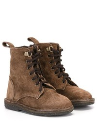 braune Stiefel aus Wildleder von Pépé