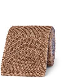 Braune Strick Krawatte von Boglioli