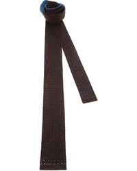 braune Strick Krawatte von Drumohr