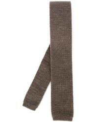 braune Strick Krawatte von Eleventy
