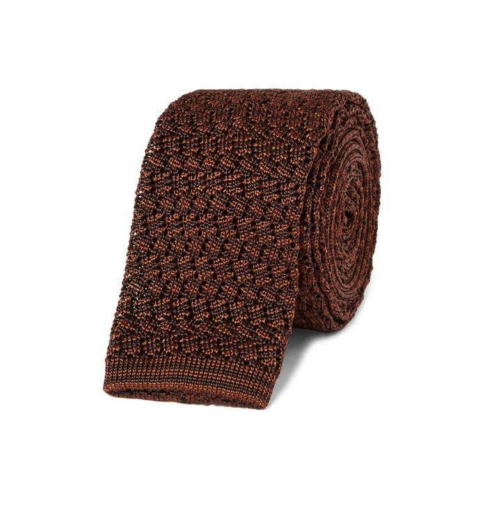 braune Strick Krawatte
