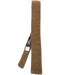 braune Strick Krawatte von Missoni