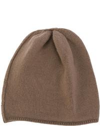 braune Strick Mütze