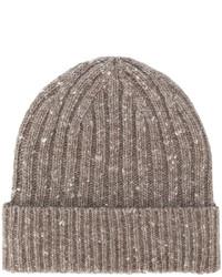 braune Strick Mütze von Pringle