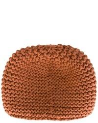 braune Strick Mütze von Telfar