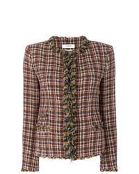 braune Tweed-Jacke