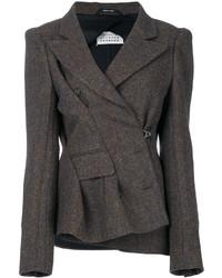 braune Tweed-Jacke von Maison Margiela