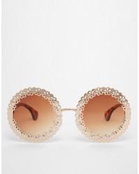 braune und goldene Sonnenbrille von Asos