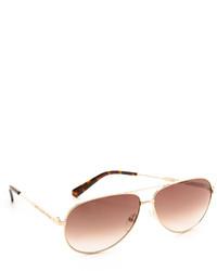 braune und goldene Sonnenbrille von Marc by Marc Jacobs