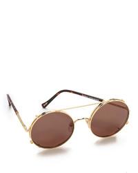 braune und goldene Sonnenbrille