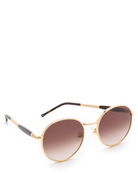 braune und goldene Sonnenbrille von Wildfox Couture