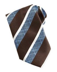 braune vertikal gestreifte Krawatte