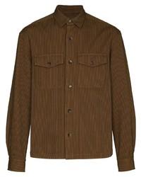 braune vertikal gestreifte Shirtjacke von Kenzo