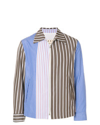 braune vertikal gestreifte Shirtjacke von Marni
