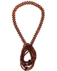 braune verziert mit Perlen Halskette