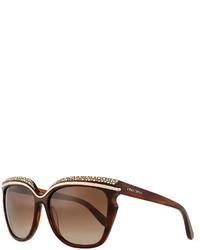 braune verzierte Sonnenbrille