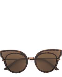 braune verzierte Sonnenbrille von Bottega Veneta