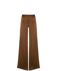 braune weite Hose aus Seide von Romeo Gigli Vintage