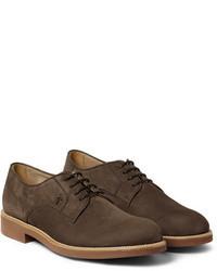 Braune Wildleder Derby Schuhe