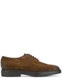 braune Wildleder Derby Schuhe von Doucal's