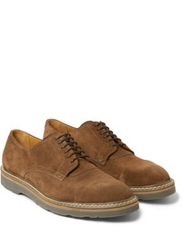 Braune Wildleder Derby Schuhe von Paul Smith