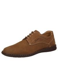 braune Wildleder Derby Schuhe von Sioux