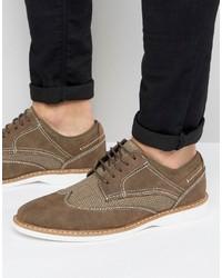 braune Wildleder Derby Schuhe von Steve Madden