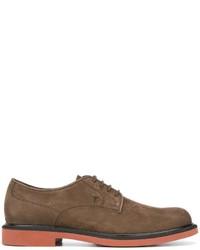 braune Wildleder Derby Schuhe von Tod's
