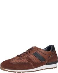 braune Wildleder niedrige Sneakers von FRETZ men