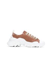 braune Wildleder niedrige Sneakers von N°21