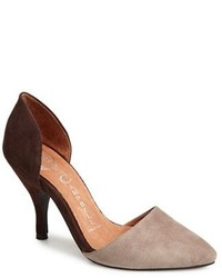 braune Wildleder Pumps