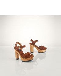 braune Wildleder Sandaletten
