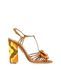 braune Wildleder Sandaletten von Aquazzura