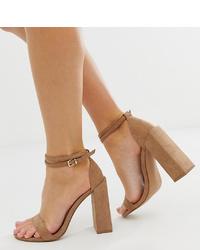 braune Wildleder Sandaletten von ASOS DESIGN
