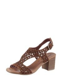 braune Wildleder Sandaletten von Corkies