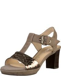 braune Wildleder Sandaletten von Gabor