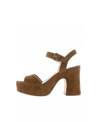 braune Wildleder Sandaletten von Nine West