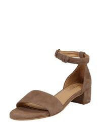 braune Wildleder Sandaletten von Pavement