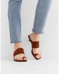 braune Wildleder Sandaletten von Vagabond