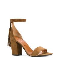 braune Wildleder Sandaletten von Via Roma 15